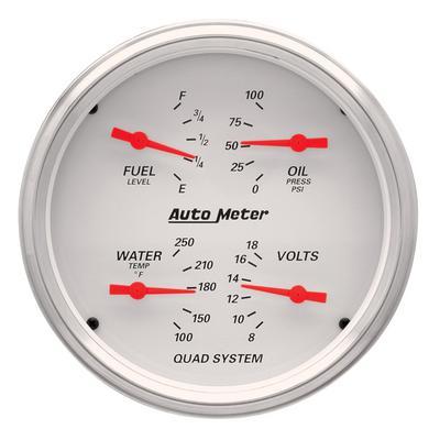 Auto Meter Arctic White Quad Gauge, 5 Inch - AMG1310
