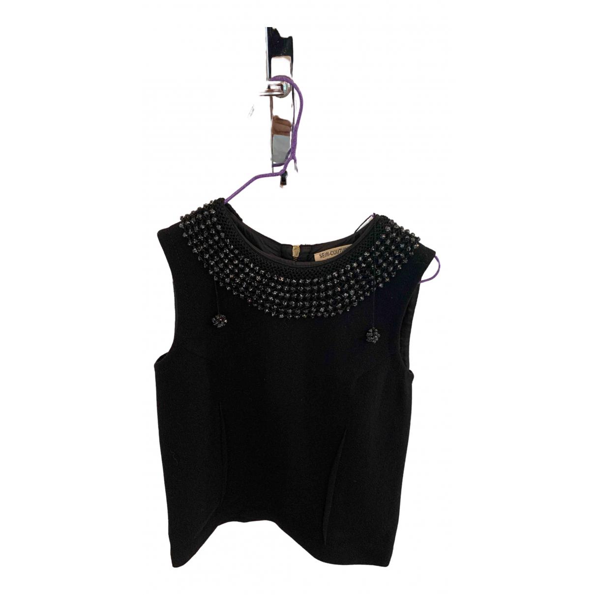 Semicouture - Top   pour femme en laine - noir