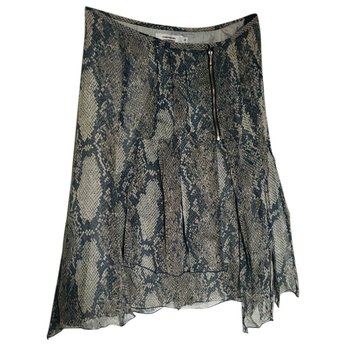 Comptoir Des Cotonniers - Jupe   pour femme en soie - multicolore