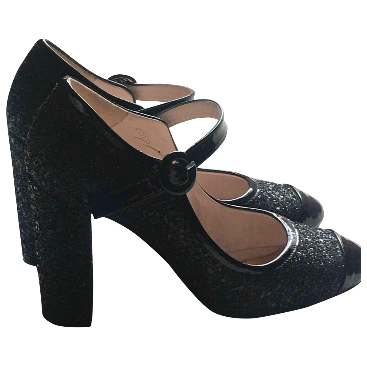 Lk Bennett \N Black Glitter Lace ups for Women 37 EU