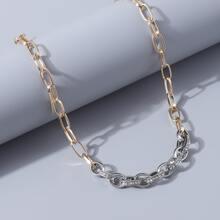 Halskette mit Strass und Kette