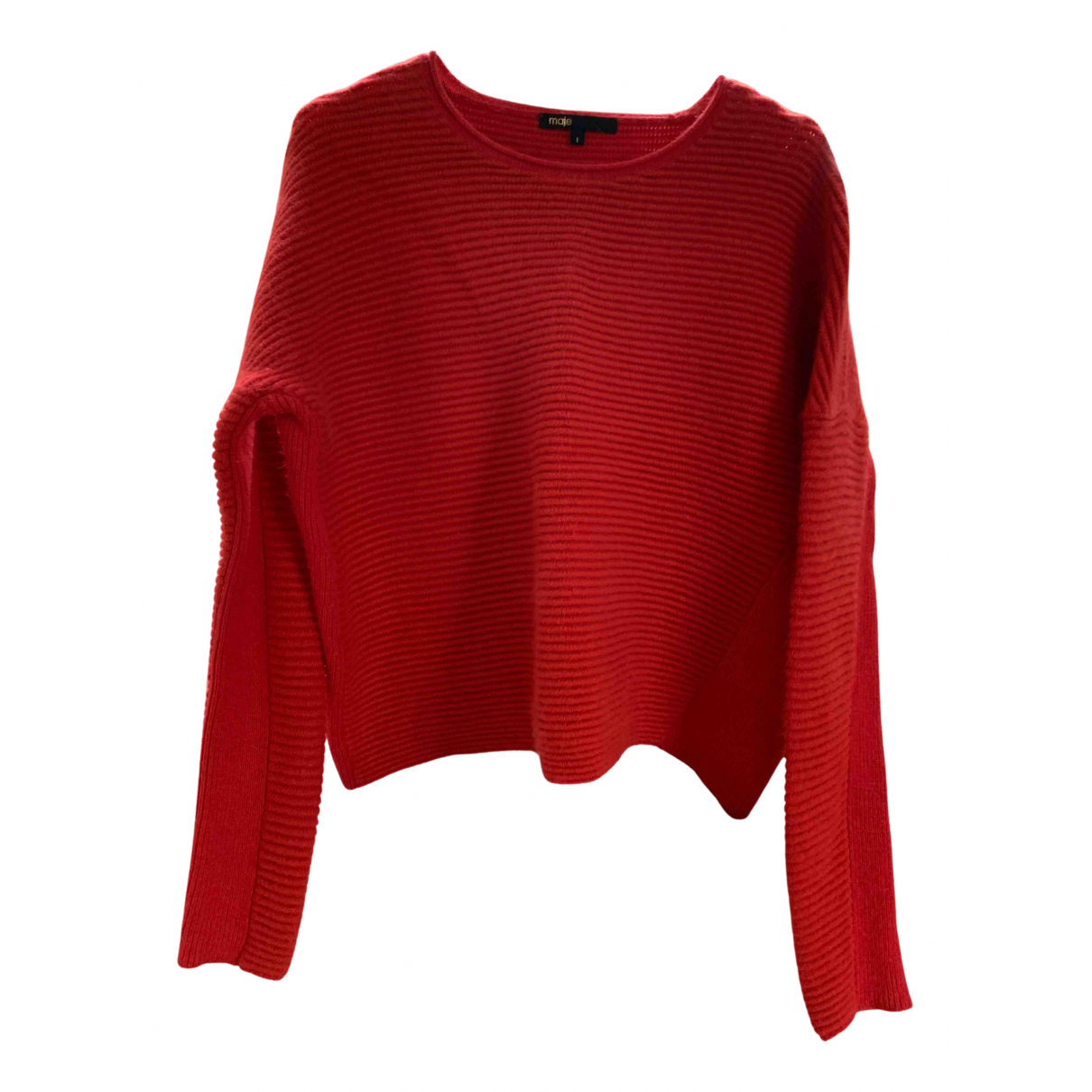 Maje - Pull   pour femme - rouge