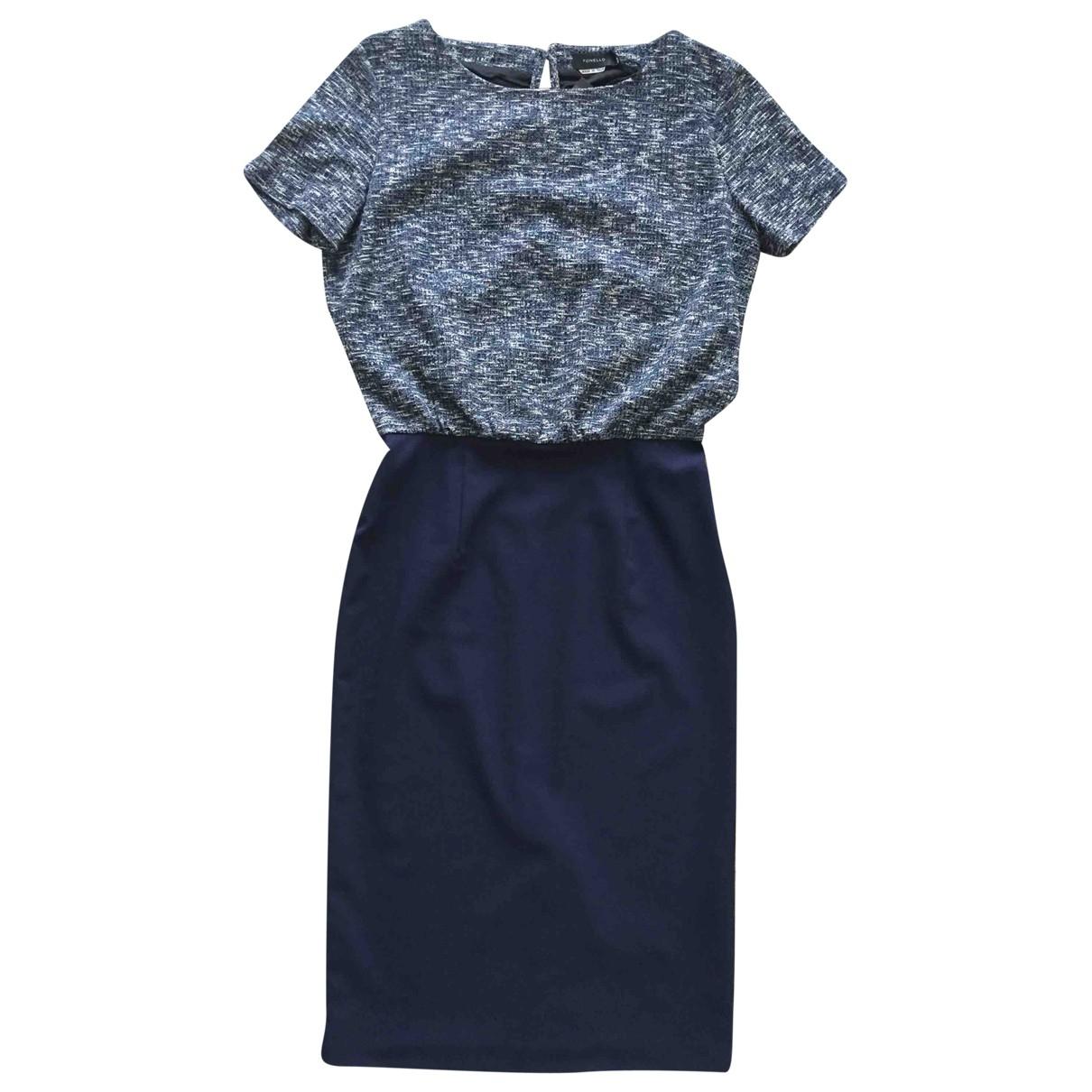 Tonello - Robe   pour femme en laine - bleu