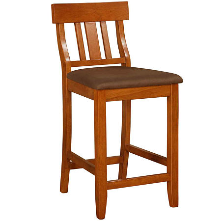 Lloyd Upholstered Barstool with Slat Back, One Size , No Color Family