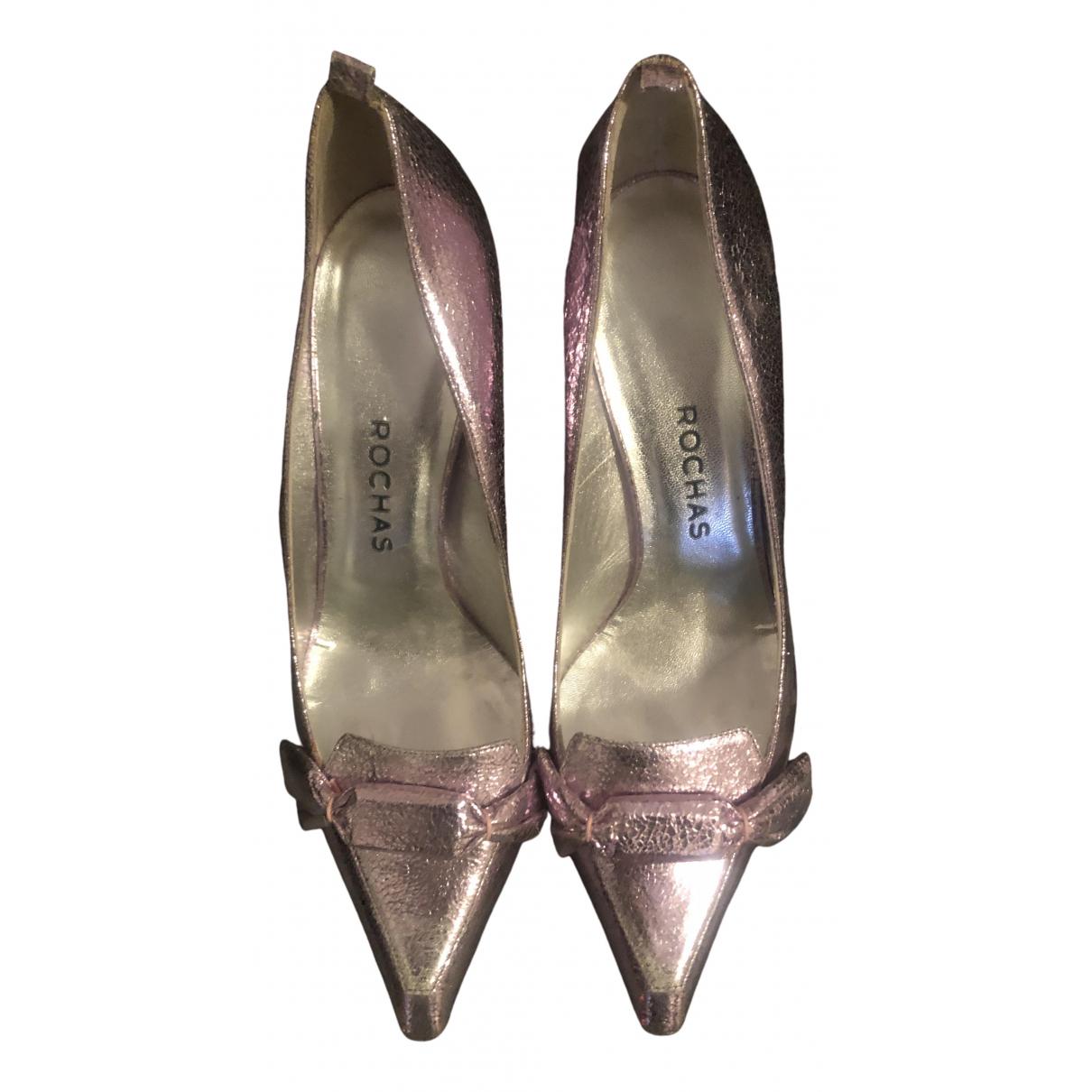 Rochas \N Pink Leather Heels for Women 40 EU