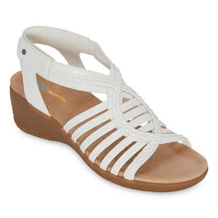 Yuu Heidi Womens Strap Sandals, 6 1/2 Medium, White