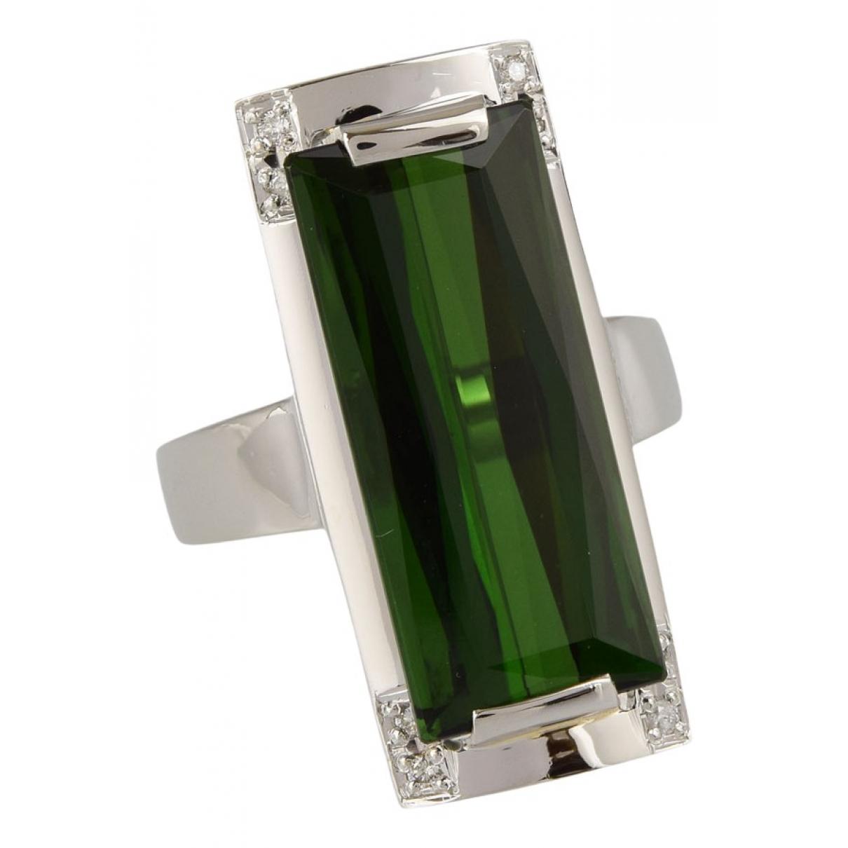 - Bague   pour femme en platine - vert