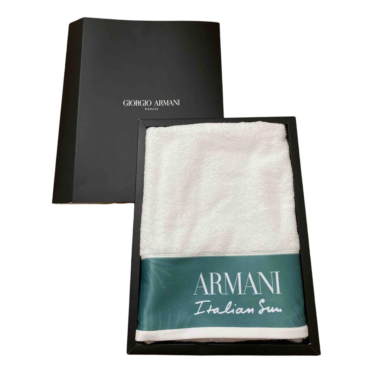 Giorgio Armani - Linge de maison   pour lifestyle en coton - blanc