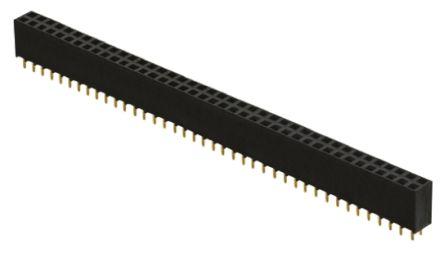 Samtec , SSW 2.54mm Pitch 100 Way 2 Row Straight PCB Socket, Through Hole, Solder Termination