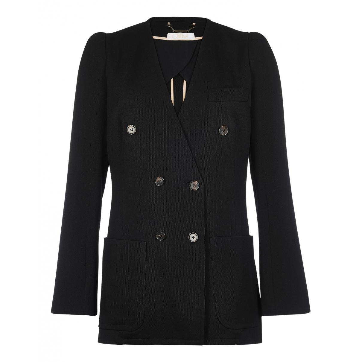 Chloé N Black Wool jacket for Women 12 UK
