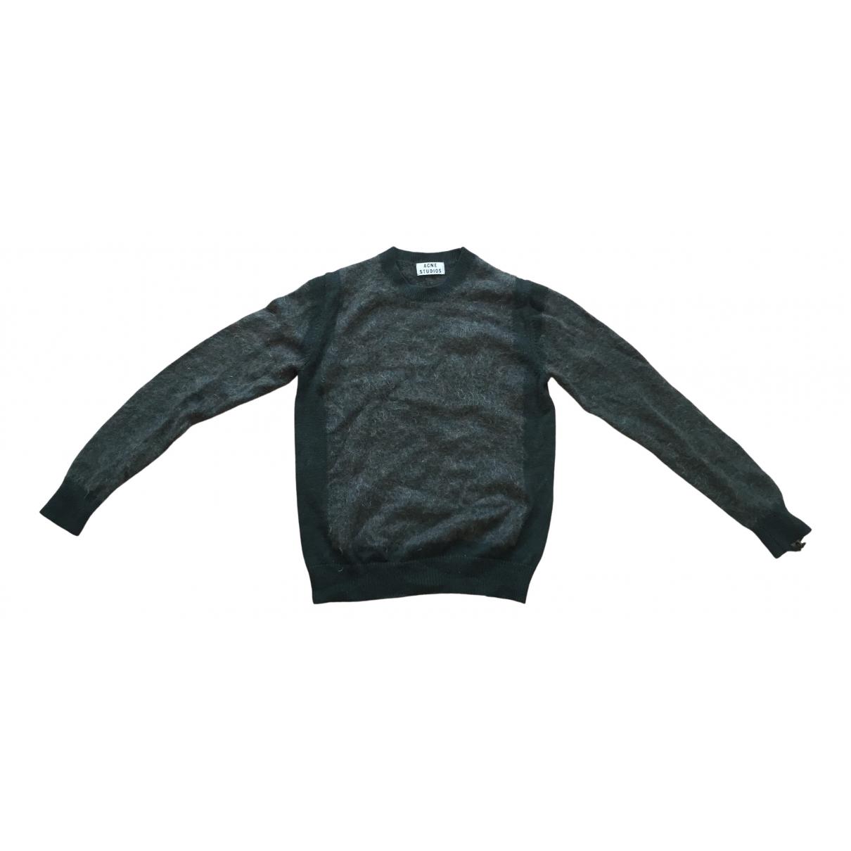 Acne Studios \N Pullover.Westen.Sweatshirts  in  Gruen Wolle