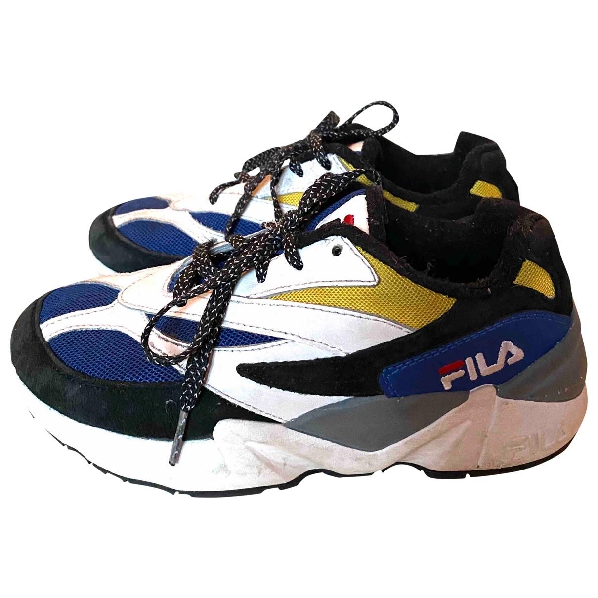 Fila \N Sneakers in  Blau Leder