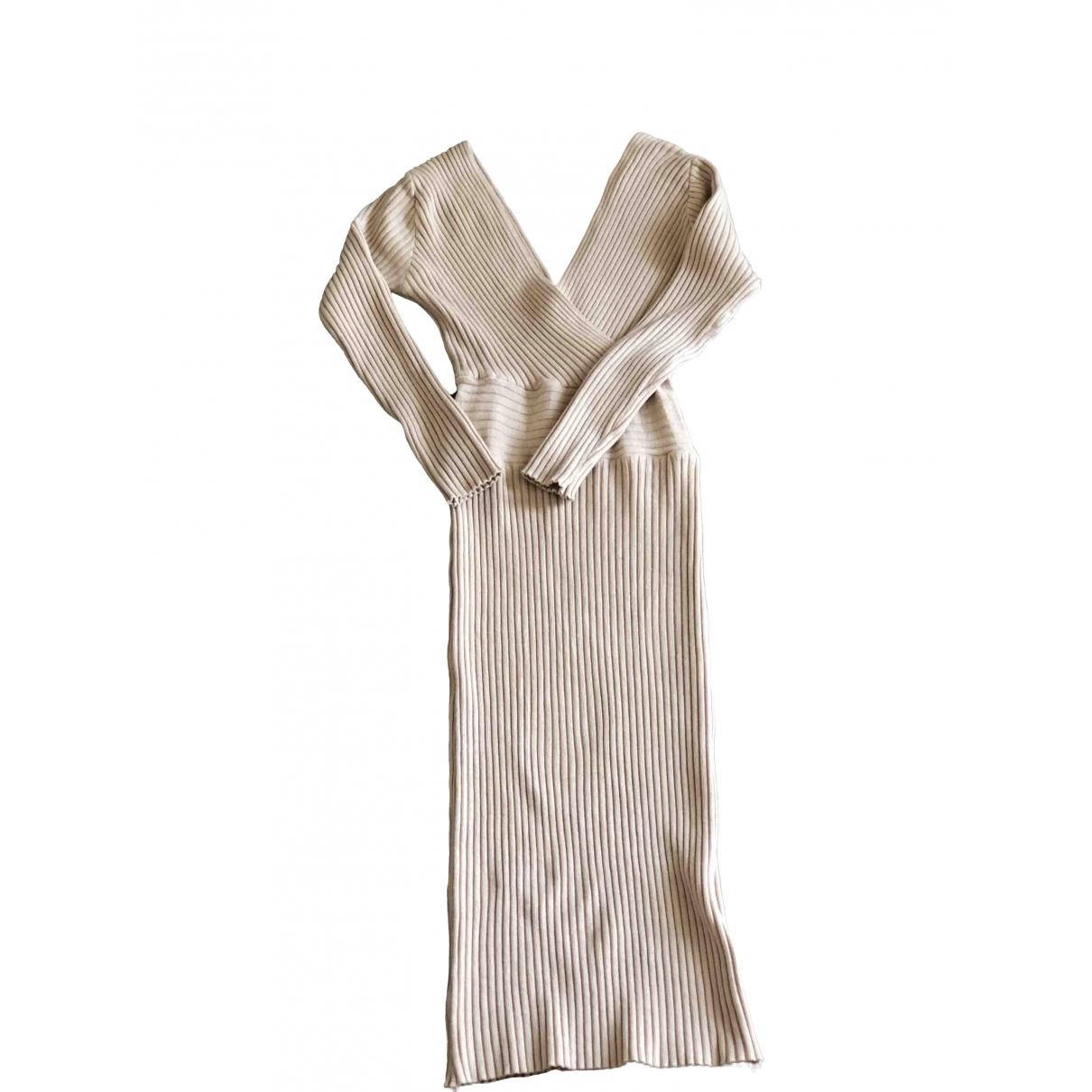 Non Signé / Unsigned \N Beige Cotton dress for Women 36 FR