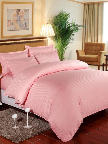 Milanoo Bedding Set 4-Piece Cotton Lilac Beddingroom Supplies