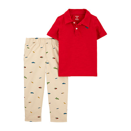 Carter's Baby Boys 2-pc. Pant Set, 6 Months , Red