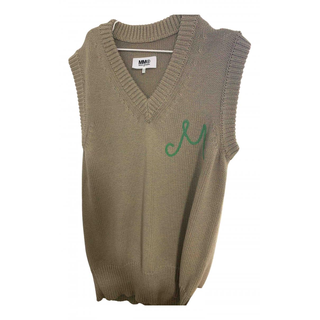 Mm6 \N Khaki Wool Knitwear for Women 32 FR