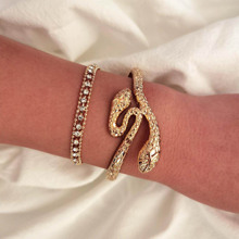 2 Stuecke Armband mit Strass Detail