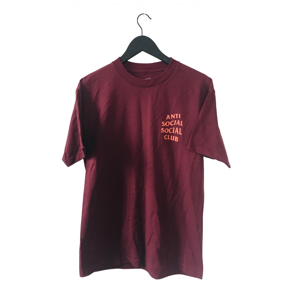 Anti Social Social Club - Tee shirts   pour homme en coton - bordeaux