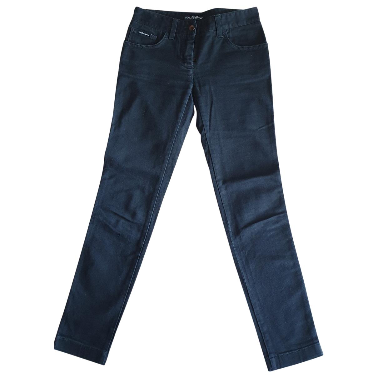 Dolce & Gabbana \N Jeans in  Schwarz Baumwolle - Elasthan