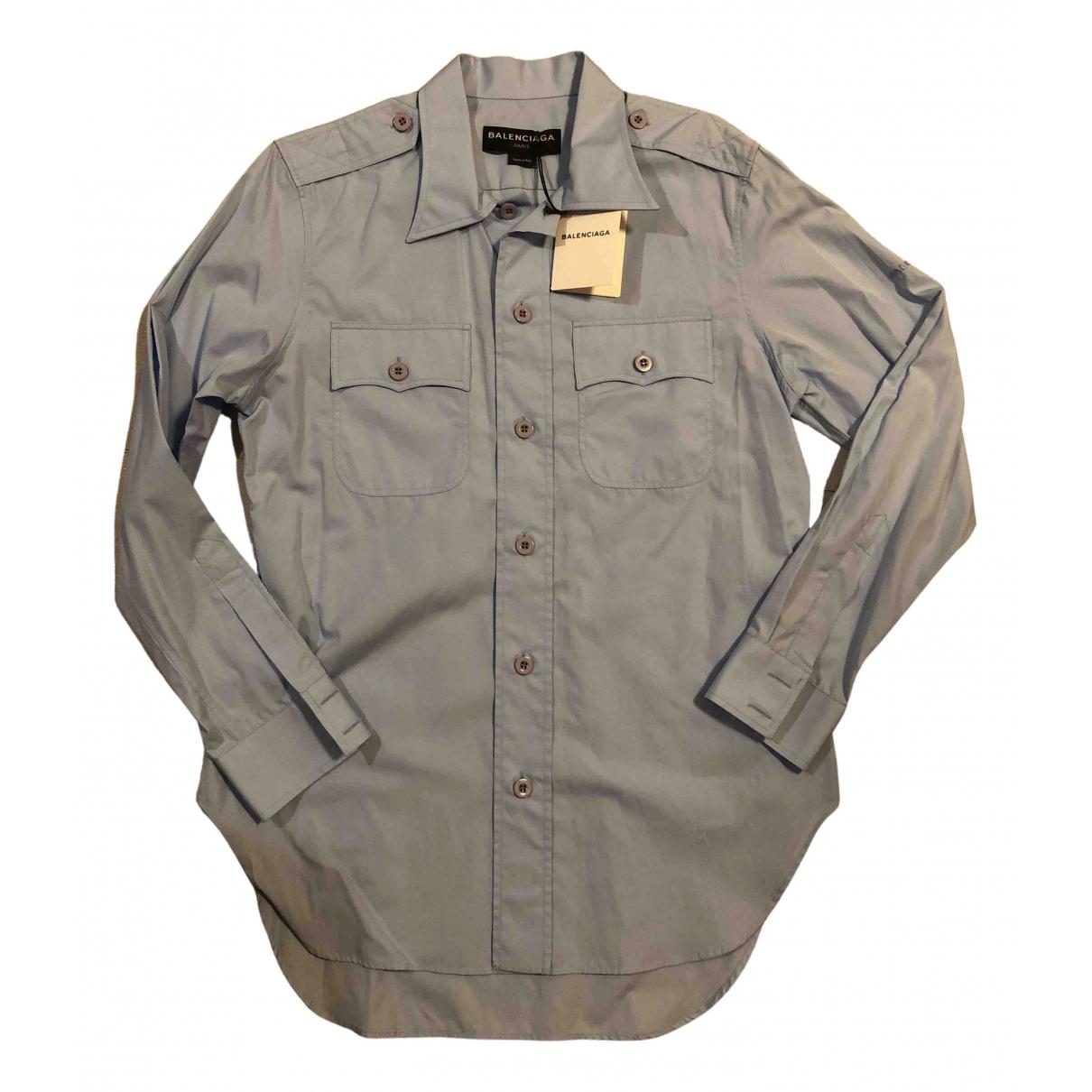 Balenciaga - Chemises   pour homme en coton - bleu