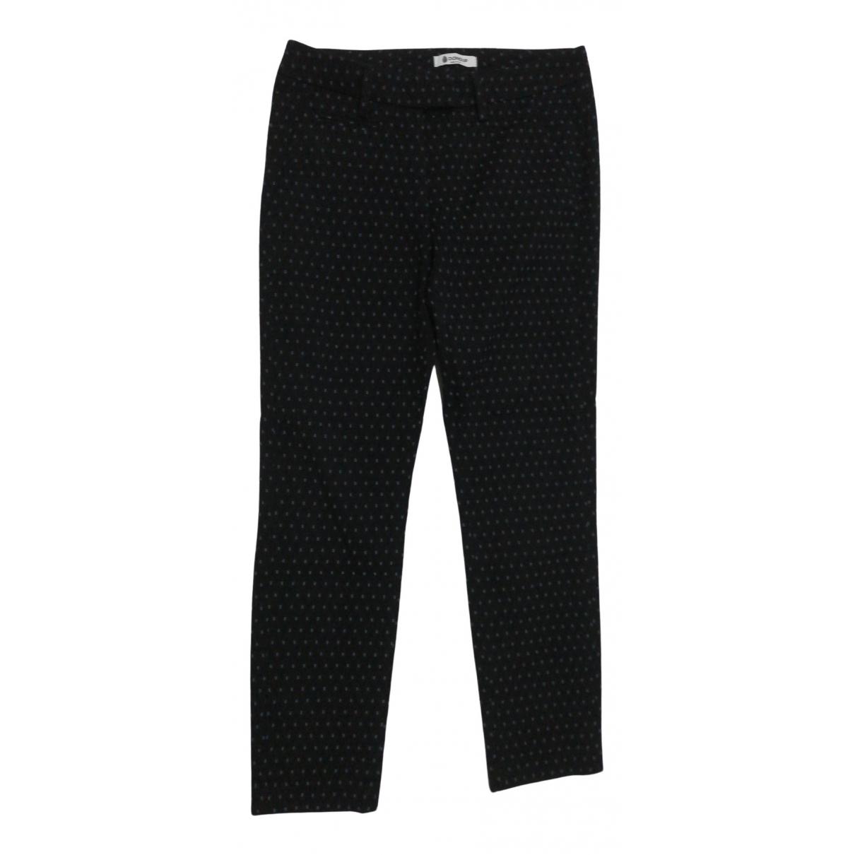Dondup \N Black Cotton Trousers for Women 42 IT