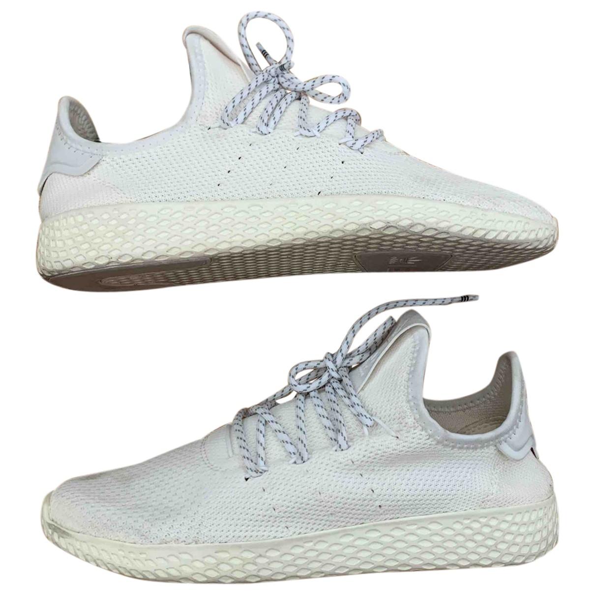 Adidas X Pharrell Williams NMD Hu Sneakers in  Weiss Leinen