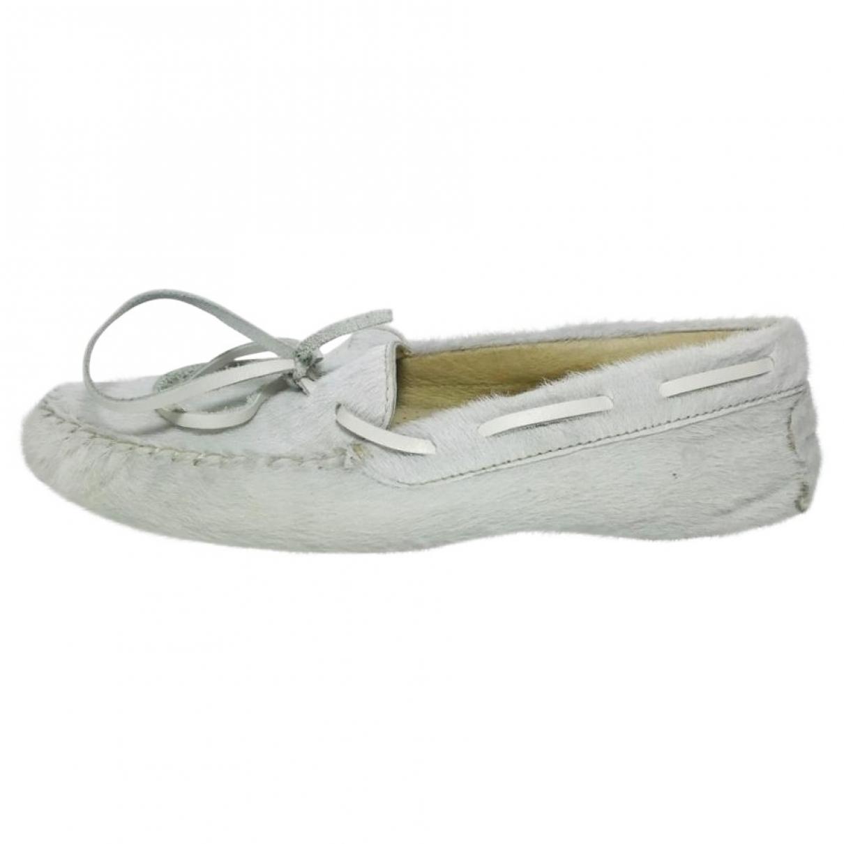 Penelope Chilvers \N Grey Pony-style calfskin Flats for Women 36 EU