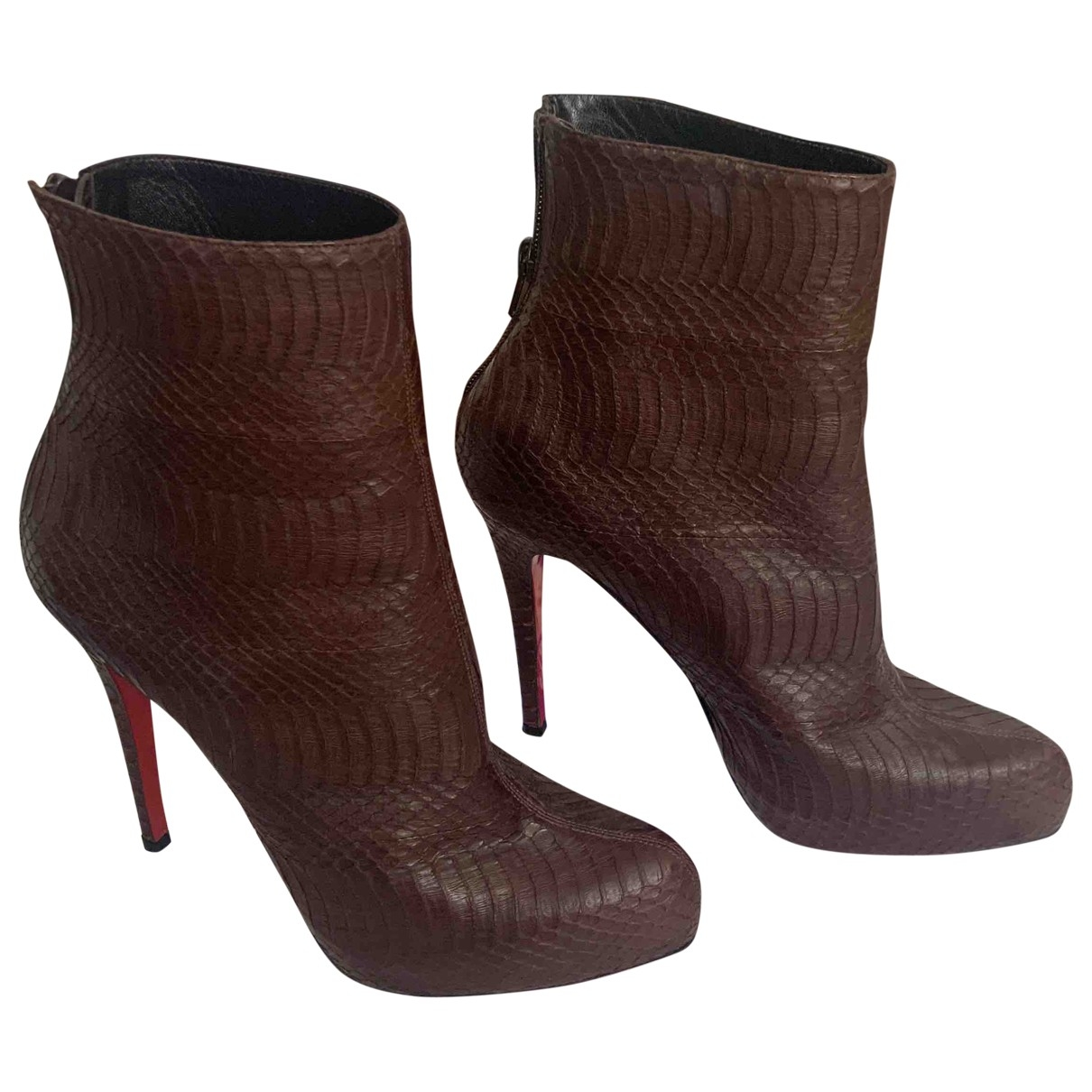 Jimmy Choo \N Brown Leather Ankle boots for Women 41 EU
