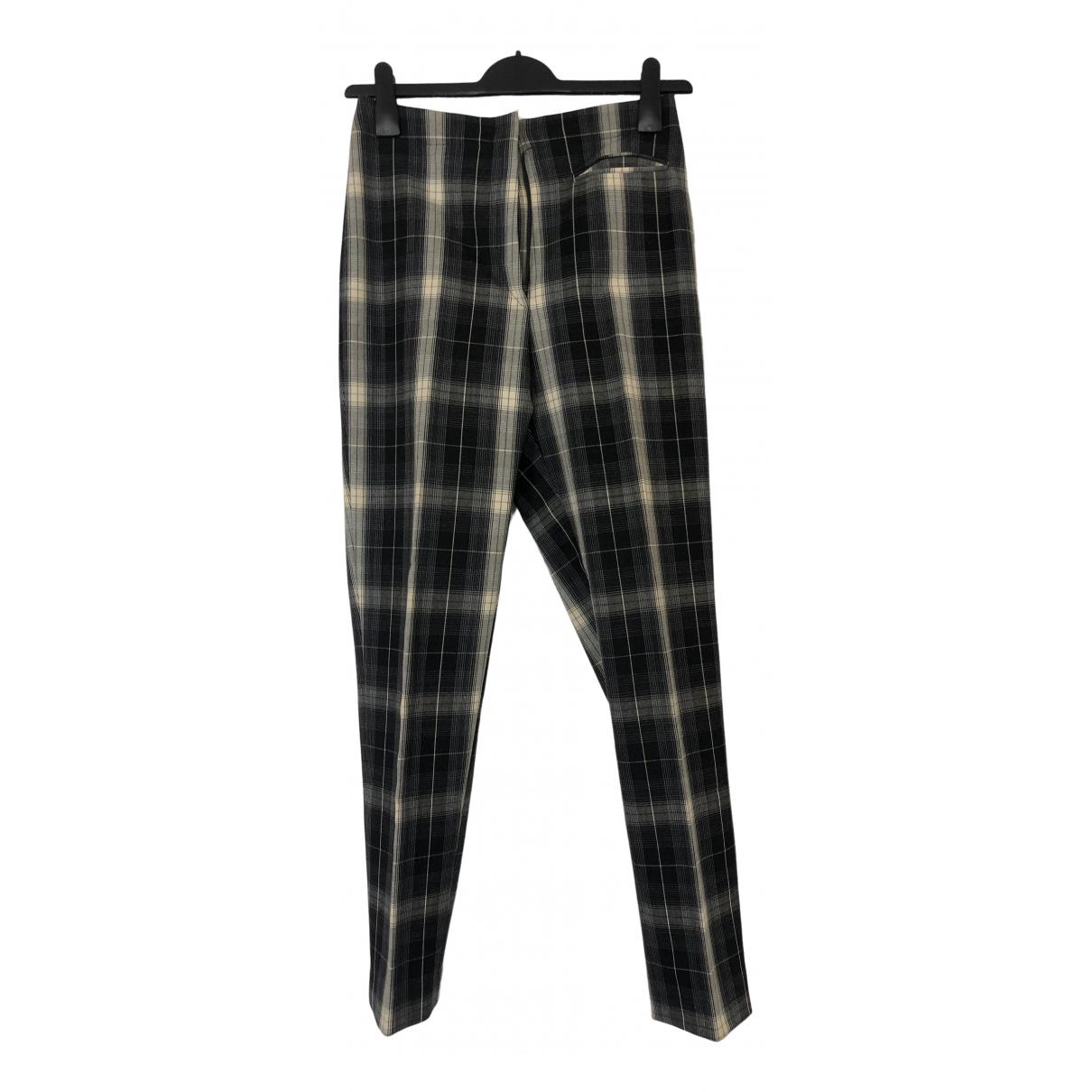 Martine Sitbon \N Black Wool Trousers for Women 46 IT