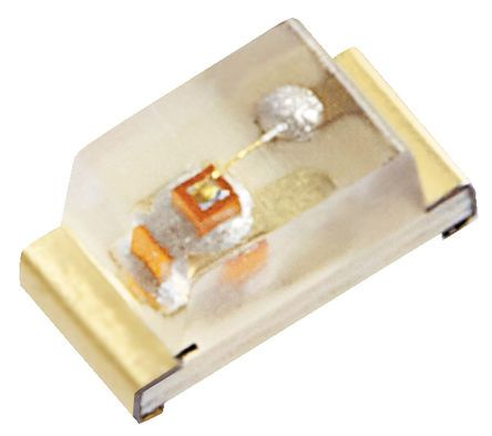 Kingbright 2.5 V Orange LED 1608 (0603) SMD,  KPT-1608SECK (100)