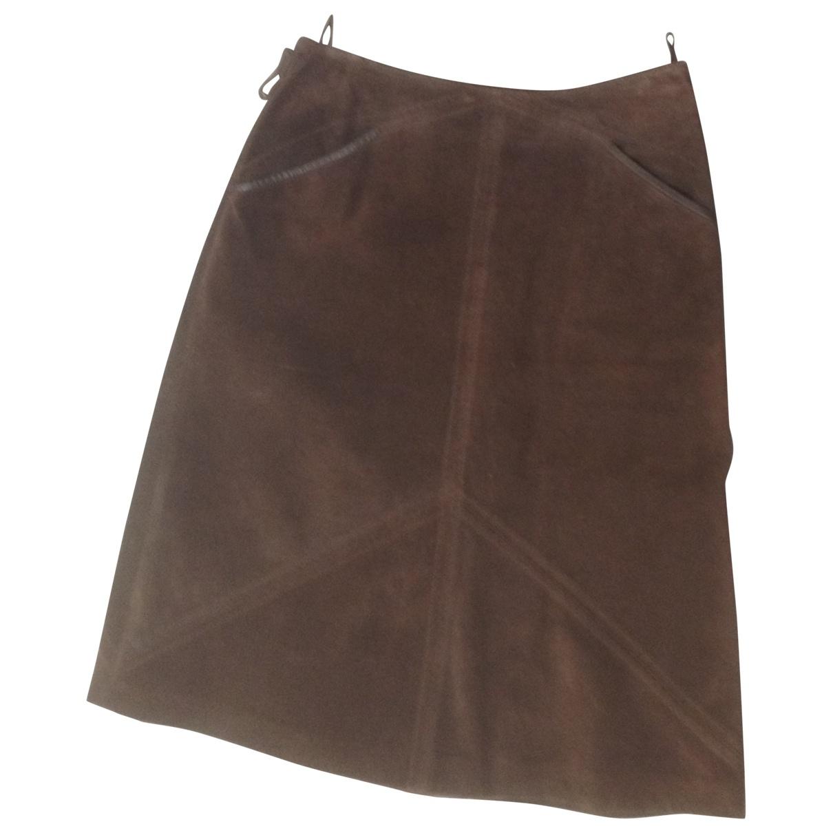 Max Mara \N Brown Suede skirt for Women 40 IT