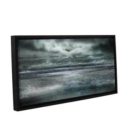 Brushstone Maelstrom Gallery Wrapped Floater-Framed Canvas Wall Art, One Size , Black