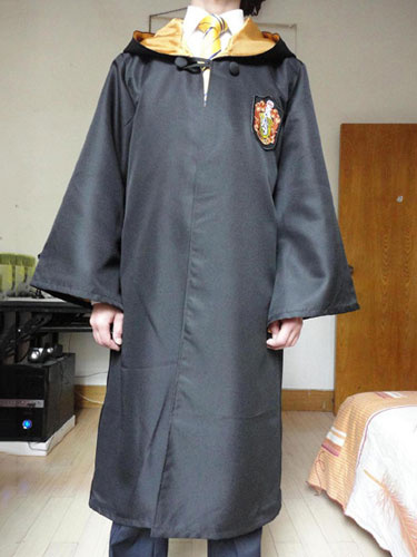 Milanoo Harry Potter Costume Hufflepuff Robe Halloween Cosplay Costume Outfit