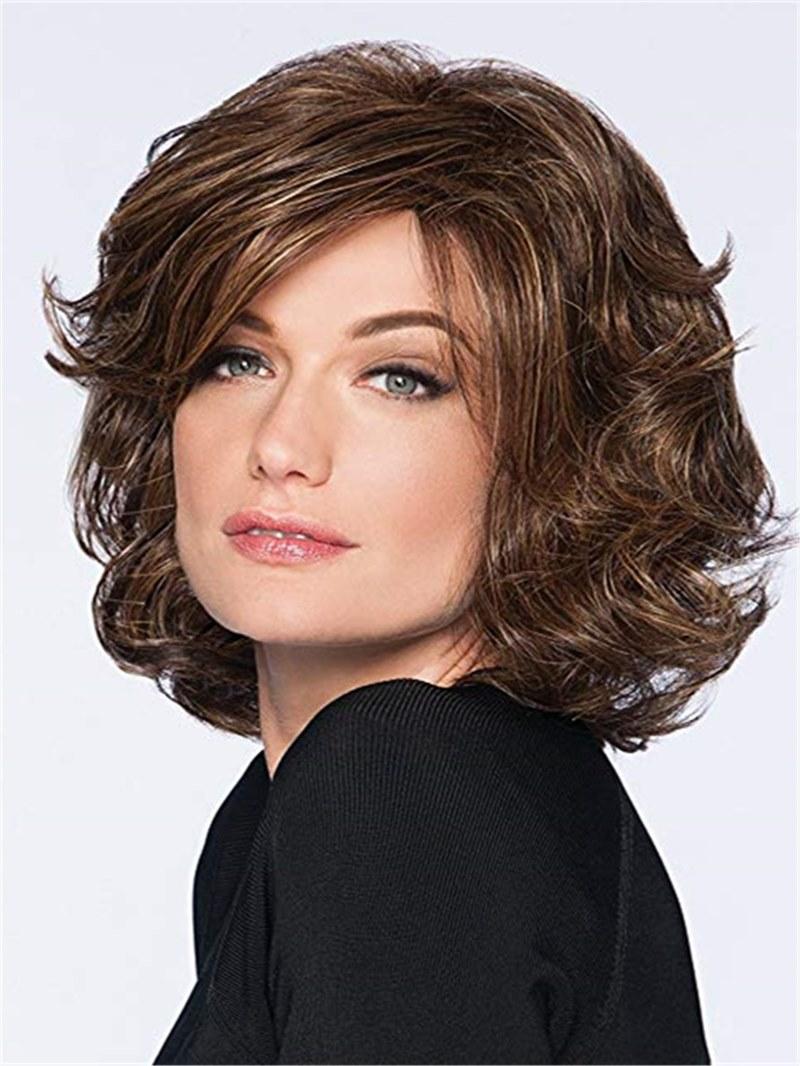 Ericdress Short Bob Cut Wavy Synthetic Hair Capless Wig