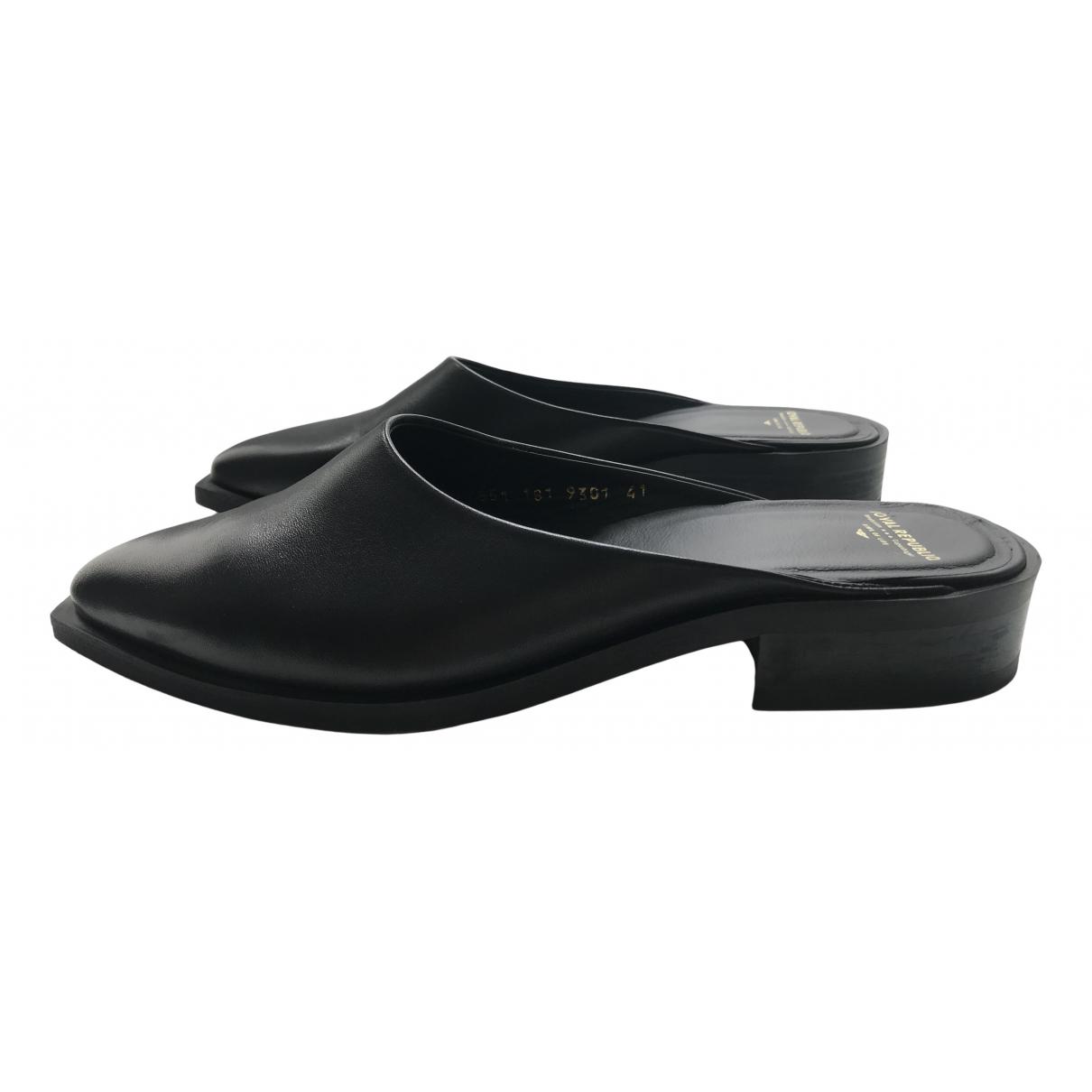 Royal Republiq \N Black Leather Mules & Clogs for Women 41 EU