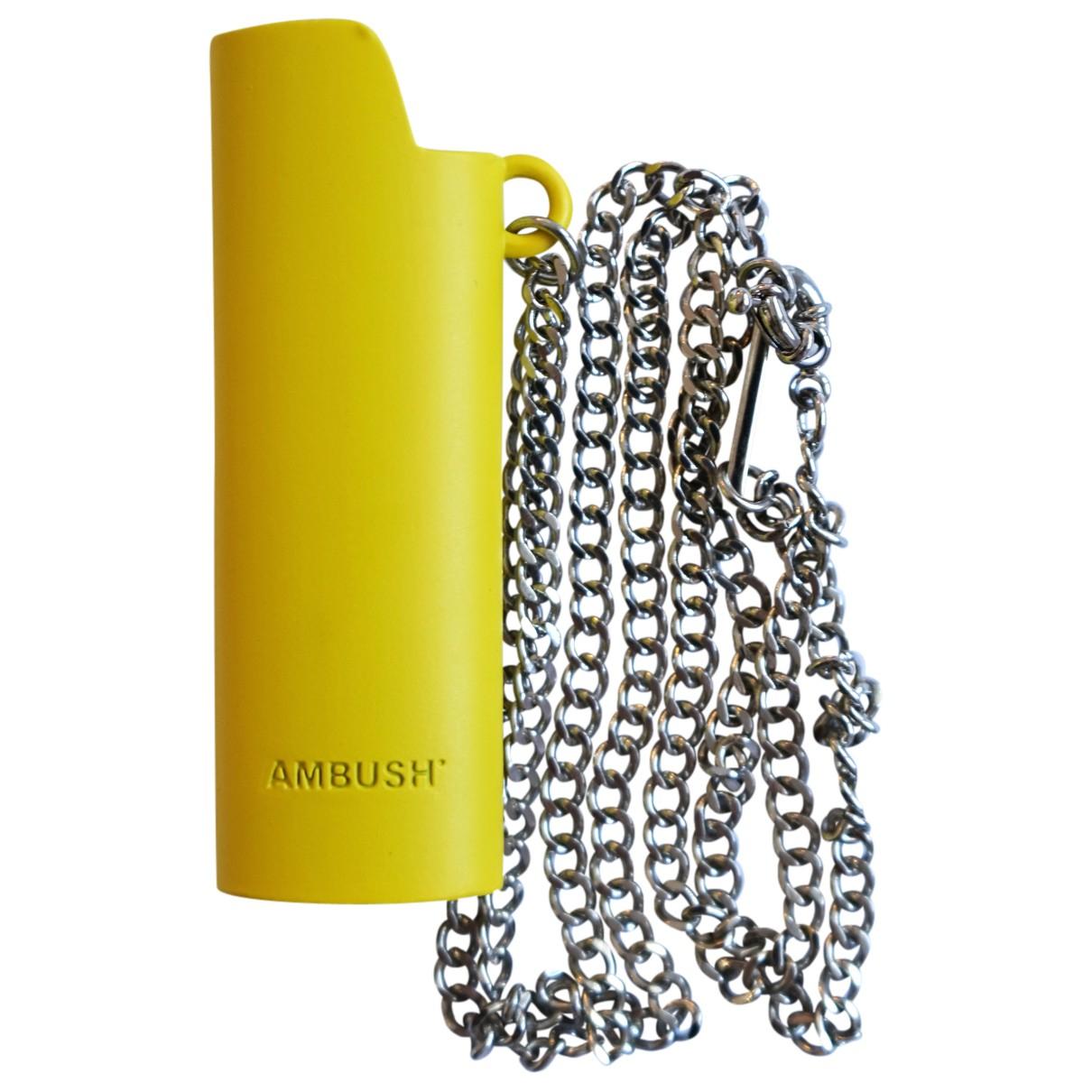 Ambush - Collier   pour femme en metal - jaune