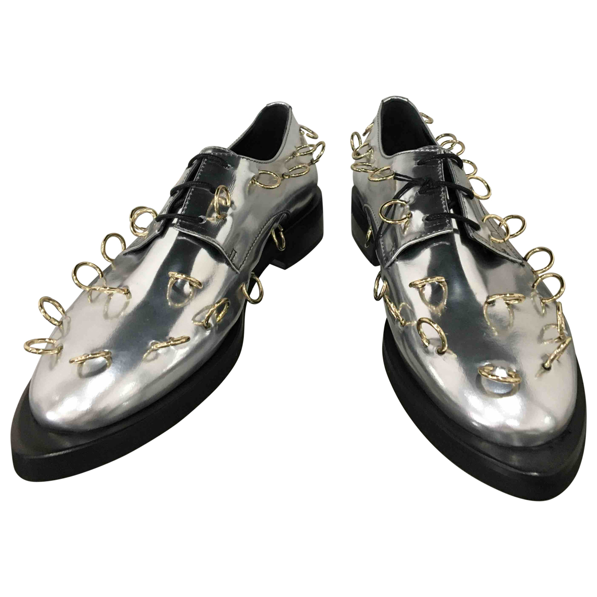 Coliac \N Silver Leather Lace ups for Women 38 IT