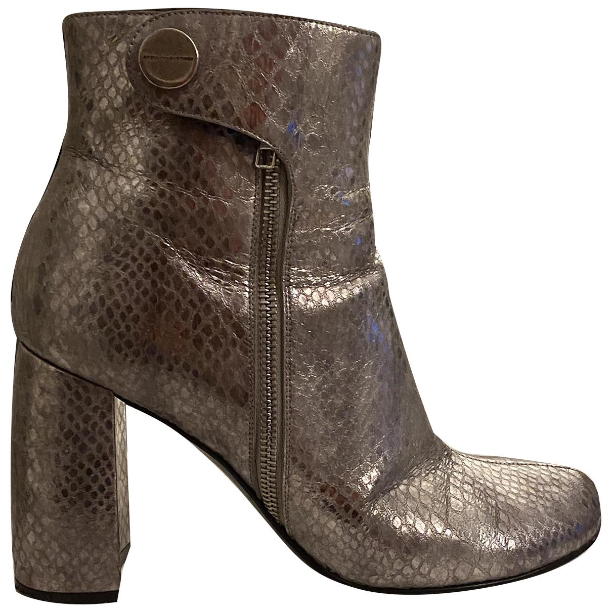 Stella Mccartney - Boots   pour femme en cuir - argente