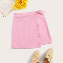 Wrap Belted Pink Skirt