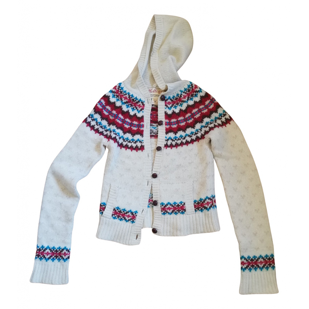 Non Signé / Unsigned Hippie Chic Multicolour Wool Knitwear for Women M International