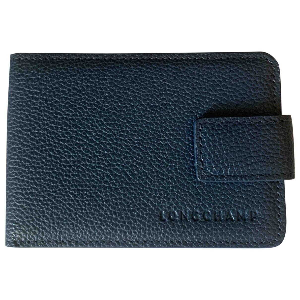 Longchamp \N Kleinlederwaren in  Blau Leder