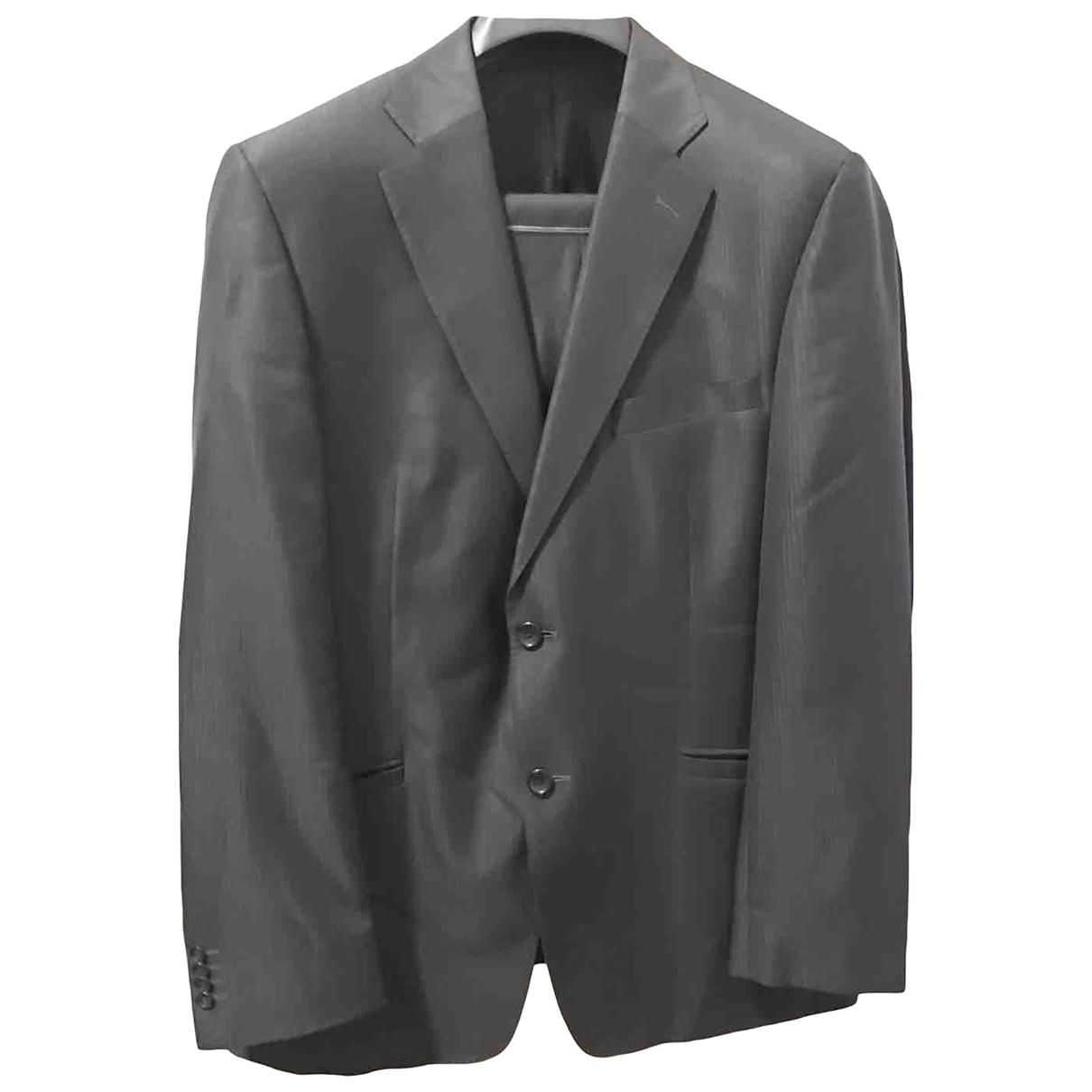 Versace - Costumes   pour homme en laine - gris