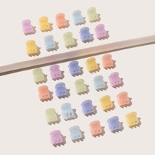 30pcs Toddler Girls Solid Hair Claw