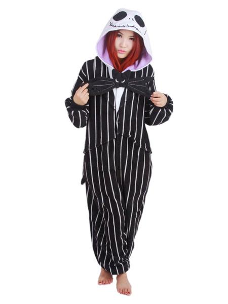 Milanoo Onesie Kigurumi Pajamas The Nightmare Before Christmas Jack Winter Sleepwear Animal Costume Halloween