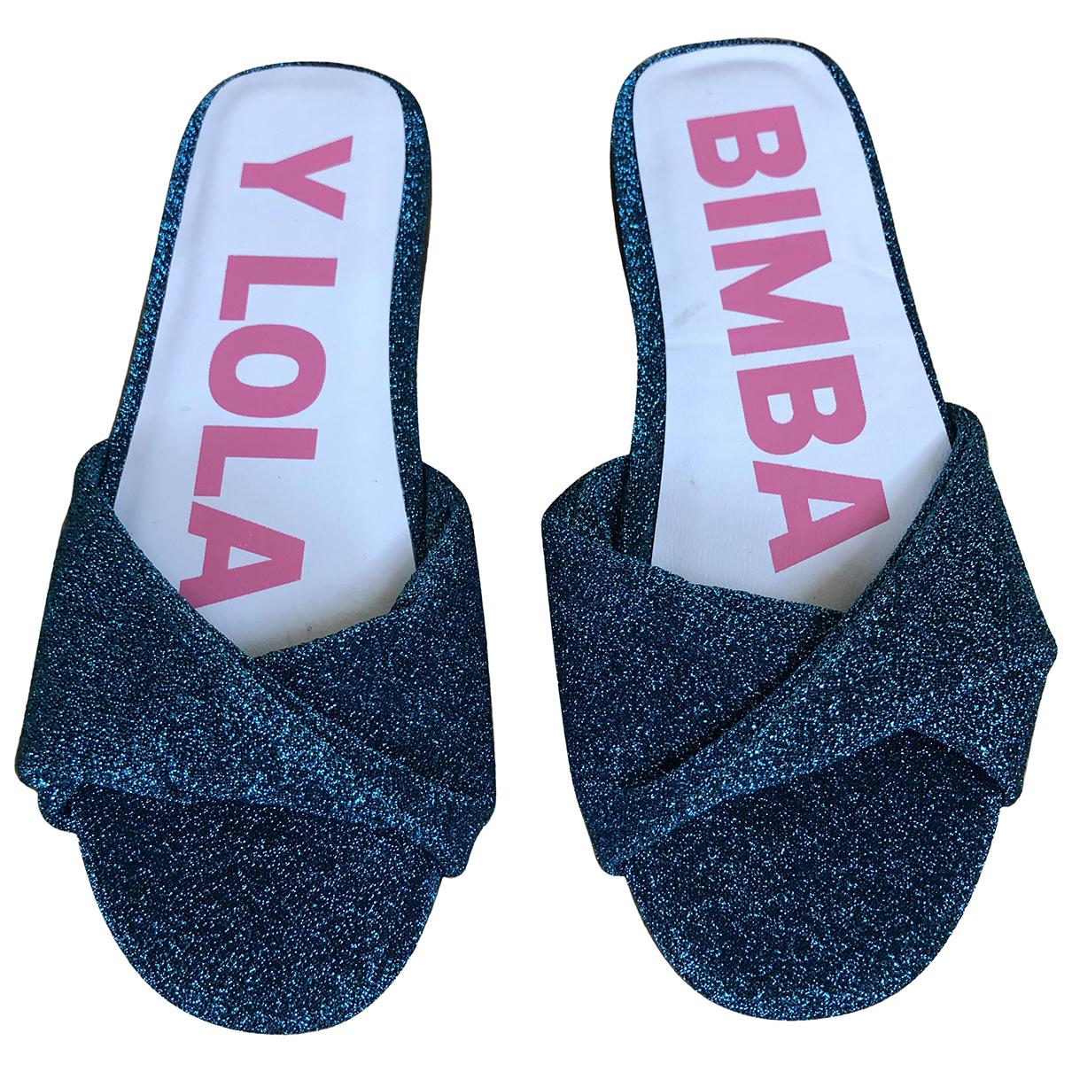 Bimba Y Lola \N Sandalen in  Gruen Mit Pailletten
