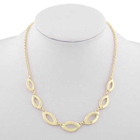 Liz Claiborne Suneshine State 17 Inch Cable Collar Necklace, One Size , Yellow