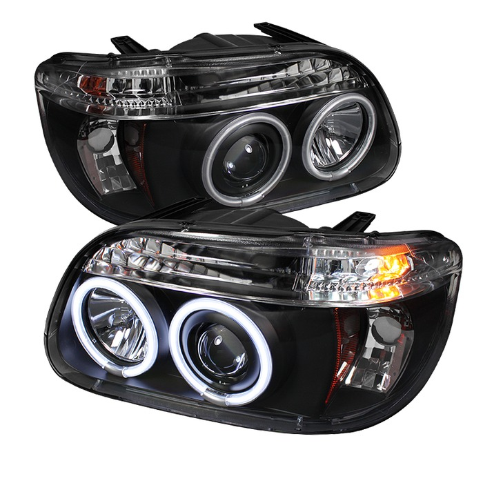 Spyder Auto PRO-YD-FEXP95-CCFL-1PC-BK Black 1PC CCFL Halo Projector Headlights with High H1 and Low H1 Lights Included Ford Explorer 95-01
