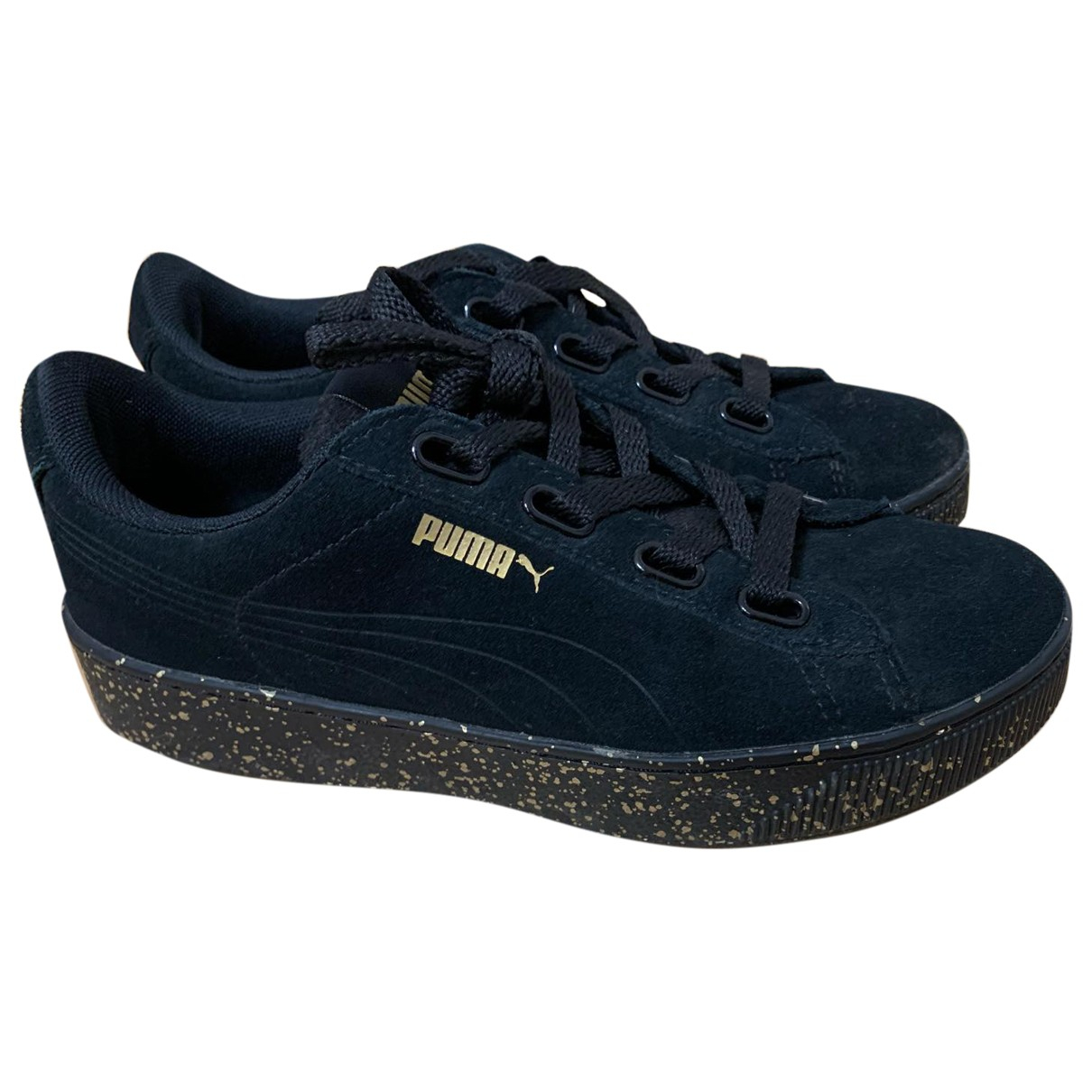 Puma \N Sneakers in  Schwarz Polyester