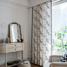 1 Stueck Vorhang mit Marmor Muster