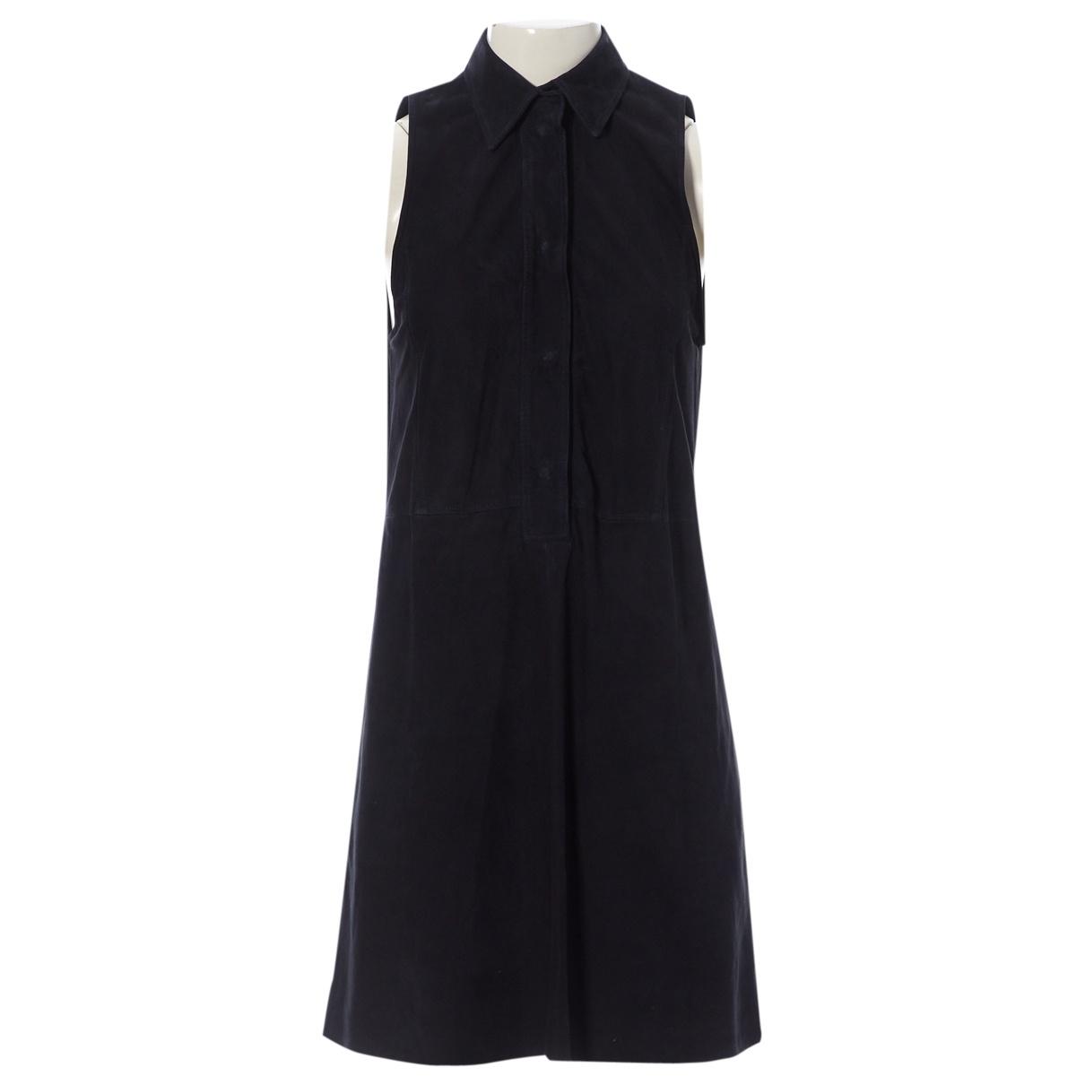 Prada - Robe   pour femme en cuir - noir